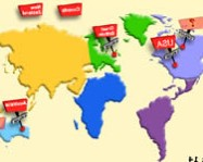 English speaking countries online tanulós játék